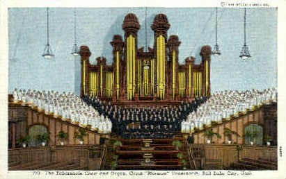 The Tabernacle Organ and Choir - Salt Lake City, Utah UT Postcard