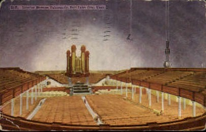 Interior of Mormon Tabernacle - Salt Lake City, Utah UT Postcard