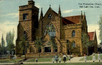1st Presbyterian Church - Salt Lake City, Utah UT Postcard