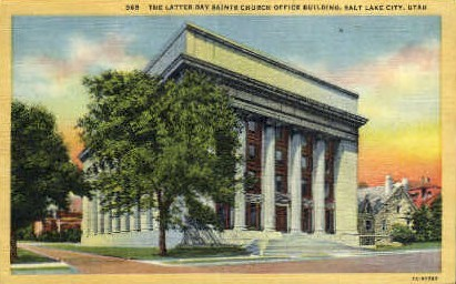 The Latter-Day Saints Church - Salt Lake City, Utah UT Postcard