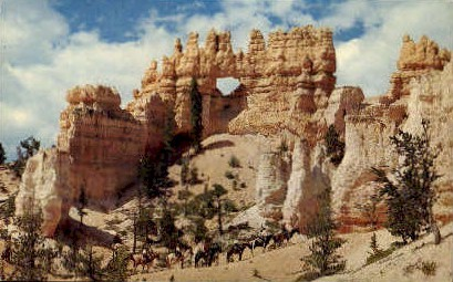 Ostlers Castle - Bryce Canyon National Park, Utah UT Postcard