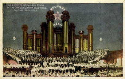 Famous Organ and Choir - Salt Lake City, Utah UT Postcard