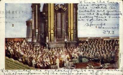 Mormon Tabernacle Choir   - Salt Lake City, Utah UT Postcard