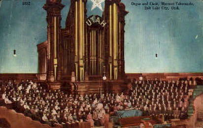 Organ and Choir - Salt Lake City, Utah UT Postcard