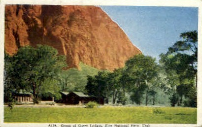 Group of Guest Lodges - Zion National Park, Utah UT Postcard