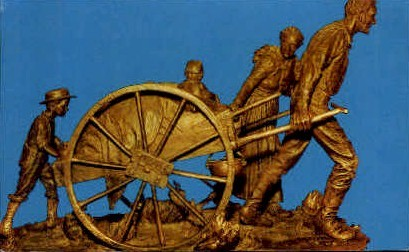 Handcart Pioneer Monument - Salt Lake City, Utah UT Postcard
