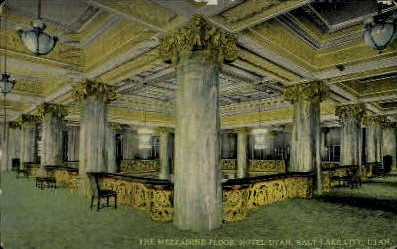 The Mezzanine Floor, Hotel Utah - Salt Lake City Postcard