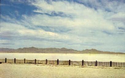 Bonneville Salt Flats - Misc, Utah UT Postcard