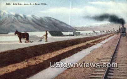 Salt Beds - Great Salt Lake, Utah UT Postcard