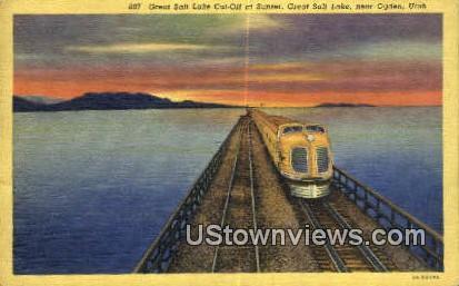 Great Salt Lake Cut Off - Ogden, Utah UT Postcard