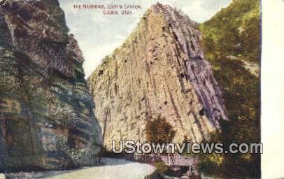 Narrows, Odgen Canyon - Ogden, Utah UT Postcard