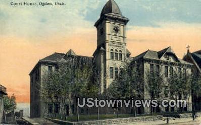 Court House - Ogden, Utah UT Postcard