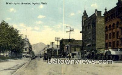 Washington Ave - Ogden, Utah UT Postcard