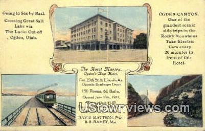 Hotel Marion - Ogden, Utah UT Postcard