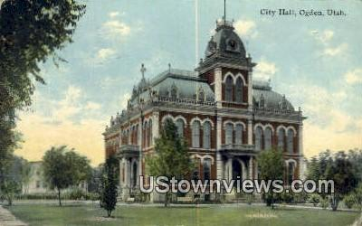 City Hall - Ogden, Utah UT Postcard