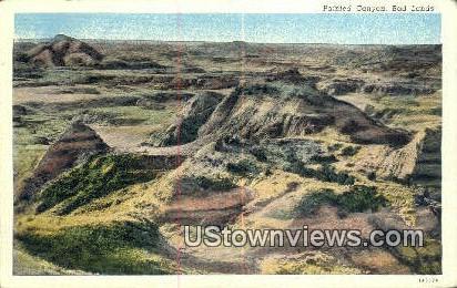 Bad Lands - Painted Canyon, Utah UT Postcard