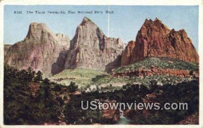 Three Patriarchs - Zion National Park, Utah UT Postcard