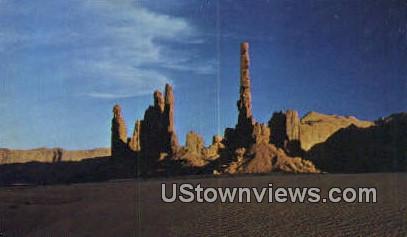Totem Pole - Monument Valley, Utah UT Postcard