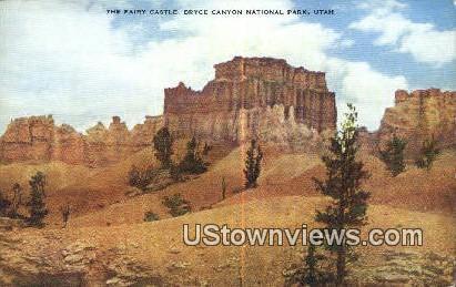 Fairy Castle - Bryce Canyon National Park, Utah UT Postcard
