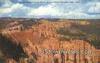 Rainbow Point - Bryce Canyon National Park, Utah UT Postcard