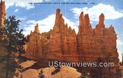 Queen's Garden - Bryce Canyon National Park, Utah UT Postcard