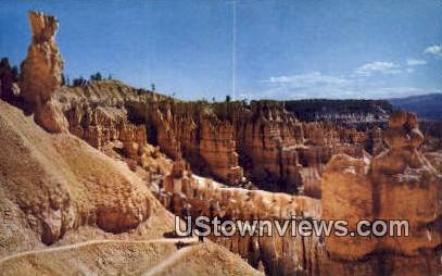 Switchbacks, Navajo Trail - Bryce Canyon National Park, Utah UT Postcard