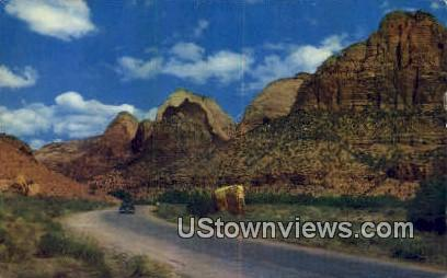 Zion National Park, UT     ;     Zion National Park, Utah Postcard