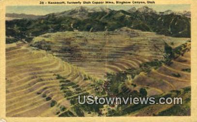 Kennecott, Utah Copper Mine - Bingham Canyon Postcard