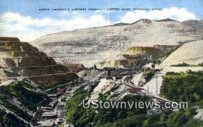 Open Cut Copper Mine - Bingham, Utah UT Postcard