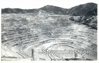 Real Photo - Utah Copper Mine - Bingham Canyon Postcard