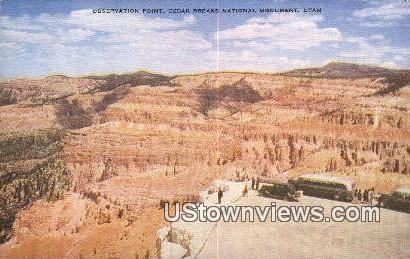 Observation Point - Cedar Breaks National Monument, Utah UT Postcard