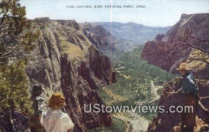 Zion Canyon - Zion National Park, Utah UT Postcard