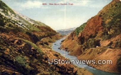 Bear River Canyon, UT     ;     Bear River Canyon, Utah Postcard