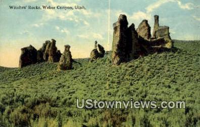Witches Rocks - Weber Canyon, Utah UT Postcard