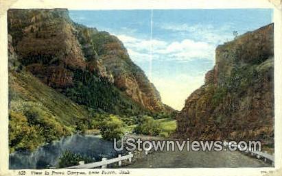 Provo Canyon - Utah UT Postcard