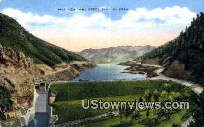 Pine View Dam - Ogden Canyon, Utah UT Postcard
