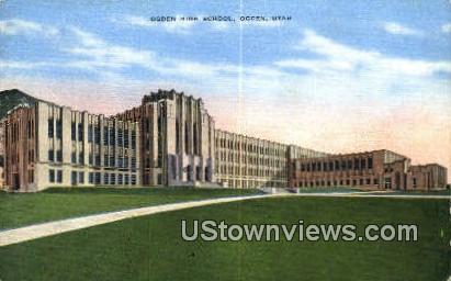 Ogden High School - Utah UT Postcard