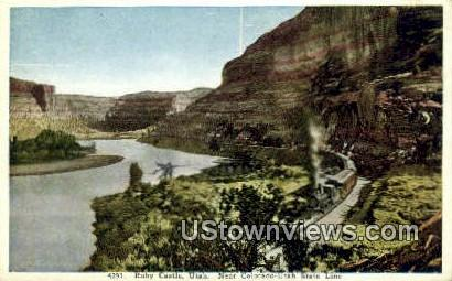 Ruby Castle, UT     ;     Ruby Castle, Utah Postcard