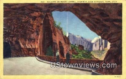 Gallery, Mt Carmel Highway - Zion National Park, Utah UT Postcard