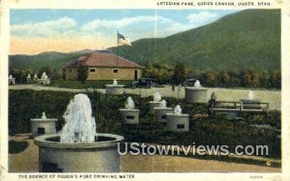 Artesian Park - Ogden, Utah UT Postcard