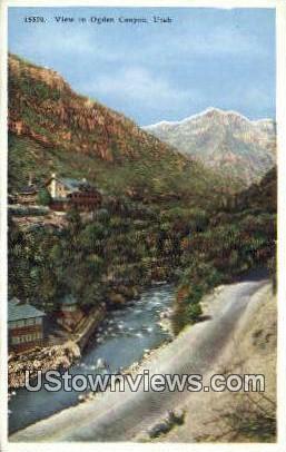 Ogden Canyon, UT     ;     Ogden Canyon, Utah Postcard