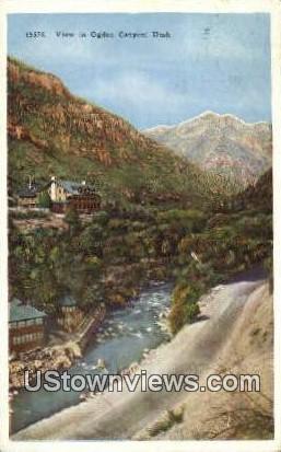 Ogden Canyon, Utah     ;     Ogden Canyon, UT Postcard