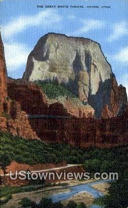 Great White Throne - Ogden, Utah UT Postcard