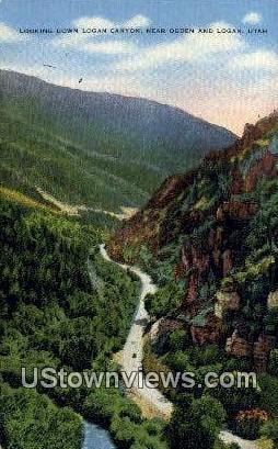 Logan Canyon - Ogden, Utah UT Postcard