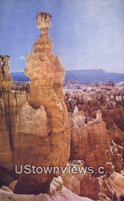 Thor's Hammer - Bryce Canyon National Park, Utah UT Postcard