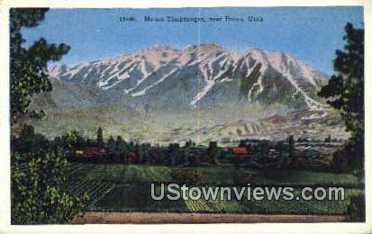 Mt Timpanogos - Provo, Utah UT Postcard