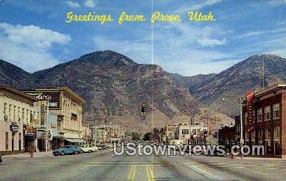 Provo, Utah     ;     Provo, UT Postcard