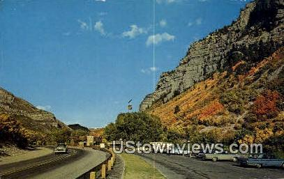 Sky Ride, Bridal Veil Falls - Provo Canyon, Utah UT Postcard