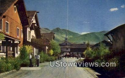 Main Street - Sun Valley, Utah UT Postcard