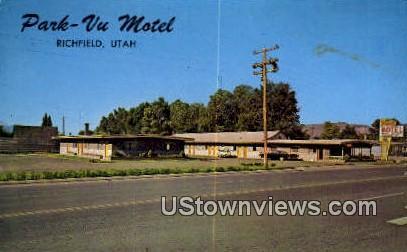 Park Vu Motel - Richfield, Utah UT Postcard
